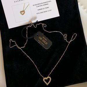Diamonds & 14K gold chain & pendant